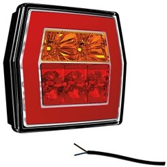 Compact LED rear light without license plate light | 12-36V | 100cm. cable