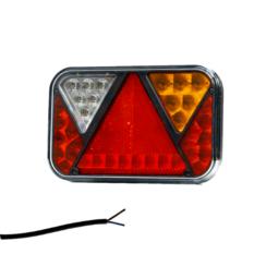 Rechts   LED achterlicht met achteruitrijlicht & kentekenverlichting   12v   100cm. kabel