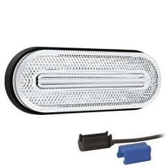 LED markeerlicht wit  | 12-36v |  0,75mm² connector
