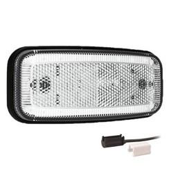LED markeerverlichting wit  | 12-24v |  1,5mm² connector