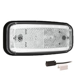 LED Umrissleuchtenn Weiß | 12-24V | 1,5mm² Stecker