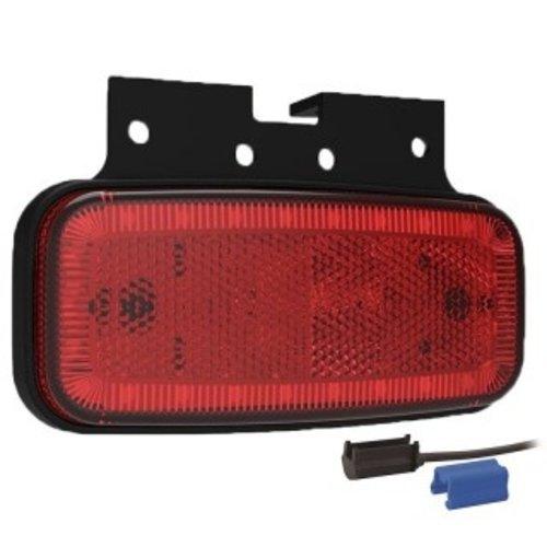 LED markeerlicht rood  | 12-24v |  0,75mm² connector