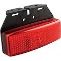 LED markeringslicht rood  | 12-24v | 20cm. kabel