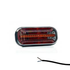 Universeel LED achterlicht met dynamisch knipperlicht  12v/24v