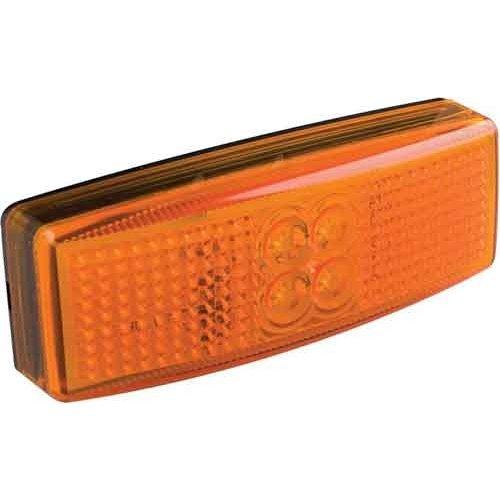 LED Autolamps  LED markeringslicht amber   12-24v   20cm. kabel
