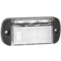 LED markeringslicht wit  | 12-24v | 40cm. kabel