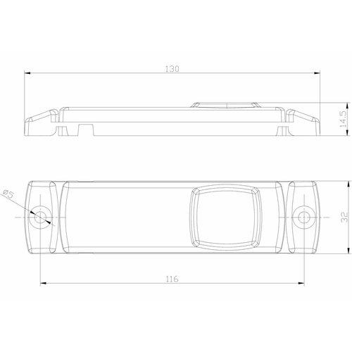 LED markeerverlichting wit  | 12-24v | 0,75mm² connector