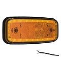 LED markeerlicht amber    12-24v   50cm. kabel