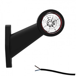 Links | LED Begrenzungsleuchten | schräger Stiel | 12-24V | 20 cm. Kabel