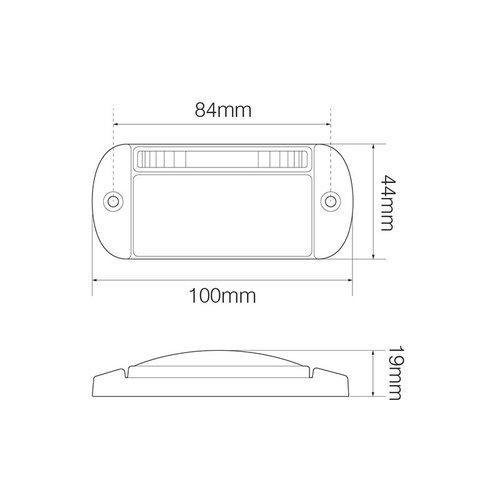LED knipperlicht met markeringslicht cat.5    12-24v    55cm. kabel
