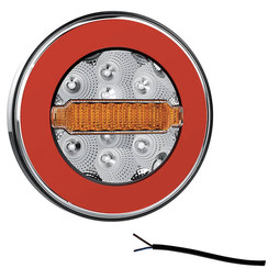 LED Rückleuchte Y Homologation ohne Kennzeichenleuchte | 12-36V | 100cm. Kabel