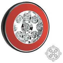 LED achteruitrijlichtmet achterlicht  | 12-36v | 5 PIN's