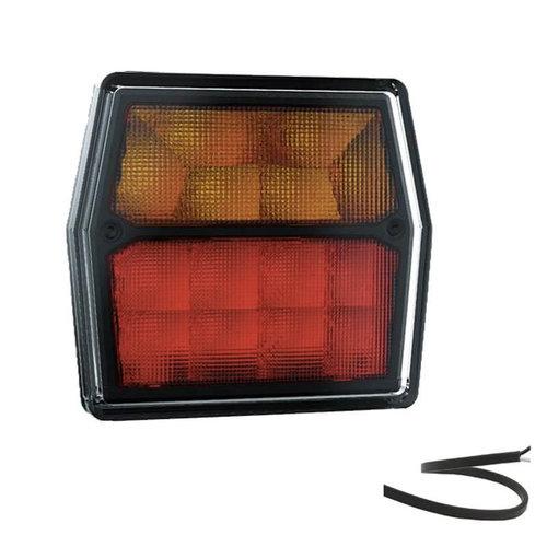 LED Compact achterlicht  12v 100cm. kabel incl. kentekenverlichting