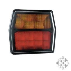 LED Compact achterlicht  12v incl. kentekenverlichting  5 PIN's