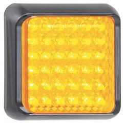 LED knipperlicht met zwarte rand   | 12-24v | 40cm. kabel