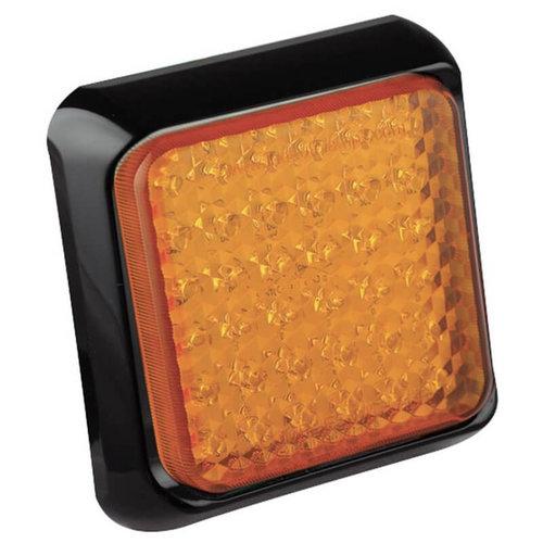 LED knipperlicht met zwarte rand     12-24v   40cm. kabel