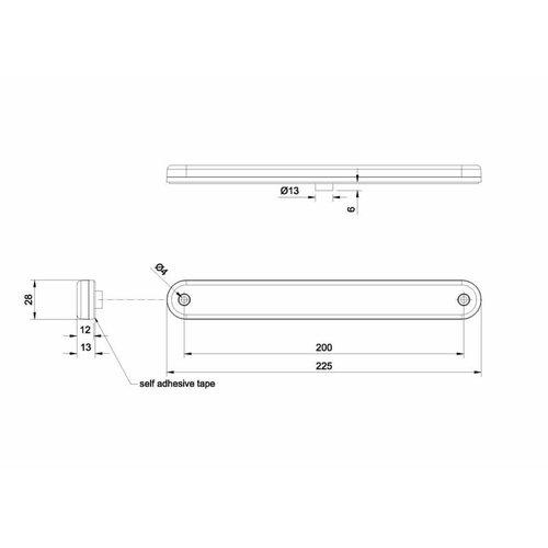 LED 3de remlicht  | 12-24v | 3,8m.