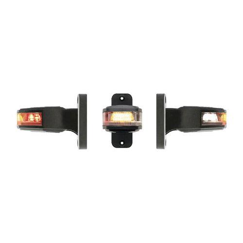 Rechts   LED breedtelamp     12-24v   30cm. kabel (Rood/wit/amber)