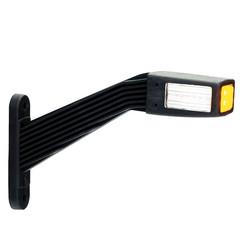 Links | LED Begrenzungsleuchten | schräger Stiel | 12-24V | 30cm. Kabel
