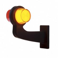 LED pendellamp rechts, haakse steel & matte lens,  | 12-24v |