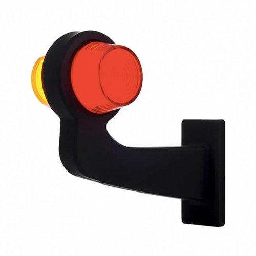 TRALERT® LED pendellamp links, haakse steel & matte lens,  | 12-24v |