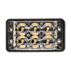 R65 Slimline LED-Blitz 6 LEDs Gelb   10-30V  