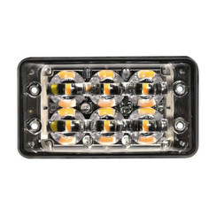 R65 Slimline LED Flash 6 LEDs Amber | 10-30V |