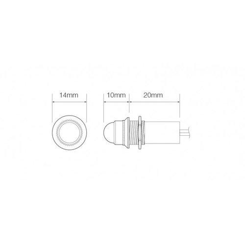 LED cockpit controlelampje, wit  | 12v