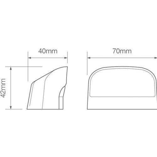 LED Autolamps  LED kentekenverlichting    12-24v   20cm. kabel