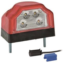 LED-Kennzeichenleuchte | 12-36V | mit 0.75mm2 Verbinder