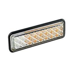 LED inbouw knipper/markeringslamp 12/24V 0,18m. kabel