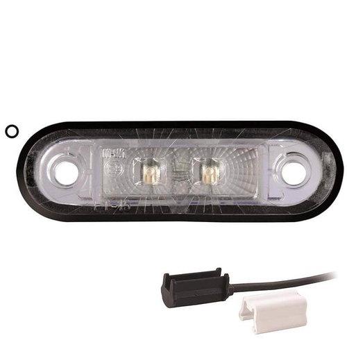 Fristom LED markeringslicht wit    12-24v    1,5mm2 connector