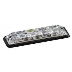 R10 Slimline LED-Blitz 4 weiẞe LEDs 10 - 30V