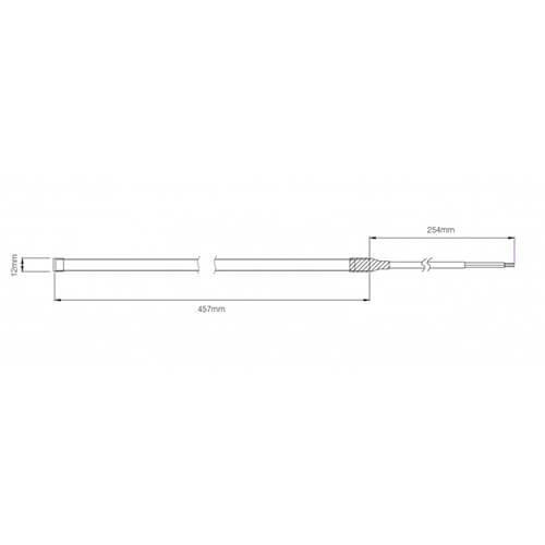 LED strip 12 volt flexibel 45,7cm. 12V koud wit