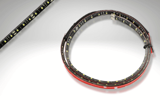 Flexible adhesive strips