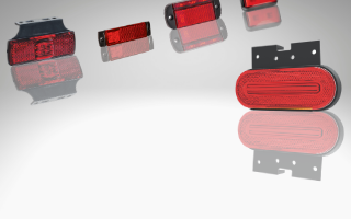 Rood LED achter markeringslichten