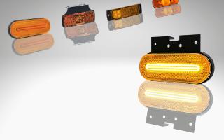 Amber LED side marker lamps