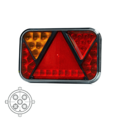Left | LED rear light with license plate light and fog | 12v | 5PIN