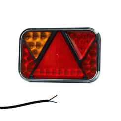 Left | LED rear light with license plate light and fog | 12v | 100cm. cable
