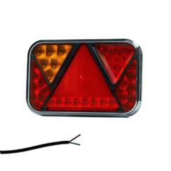 Links | LED-Rücklicht mit Kennzeichenbeleuchtung und Nebel | 12v | 100cm. Kabel