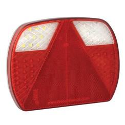 LED-Slimline-Rücklicht ohne Kennzeichenbeleuchtung | 12-24V | 40cm. Kabel