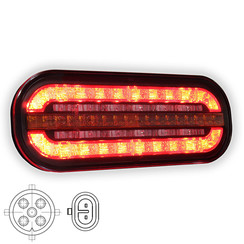Compact LED rear light with dynamic flashing | 12-24v |