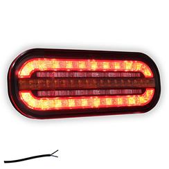 Kompakte LED-Rücklicht mit dynamischem Blinken | 12-24V |