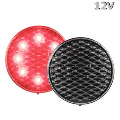 LED Brake / rear light 12V clear lens 30cm. cable
