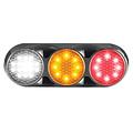 Combination LED light | 12-24v | 30cm. cable (clear + black)