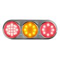 LED Combi lamp   12v   kleur   30cm. kabel (helder + chroom)