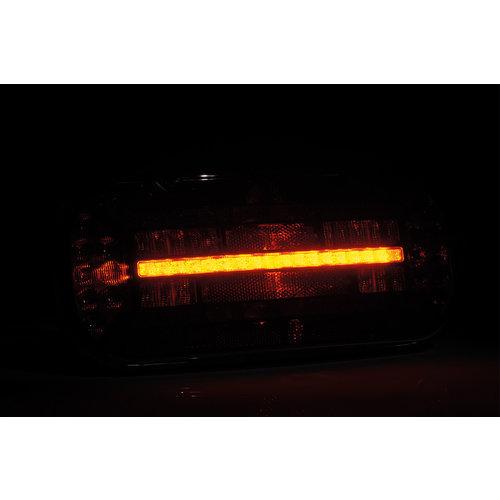 Links | LED achterlicht driehoek reflector | 12-24v | 100cm. kabel