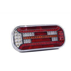 Left | LED rear triangle reflector and license plate light | 12-24v | 100cm. cable