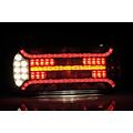 Rechts | LED achterlicht met rechthoek reflector & kentekenverlichting | 12-24v