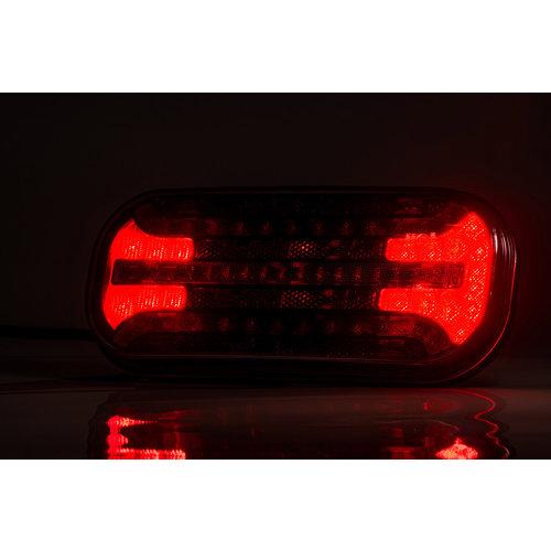Universeel LED achterlicht met dynamisch knipperlicht  | 12-24v |